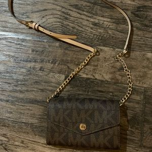 Michael Kors wallet and crossbody bag in one